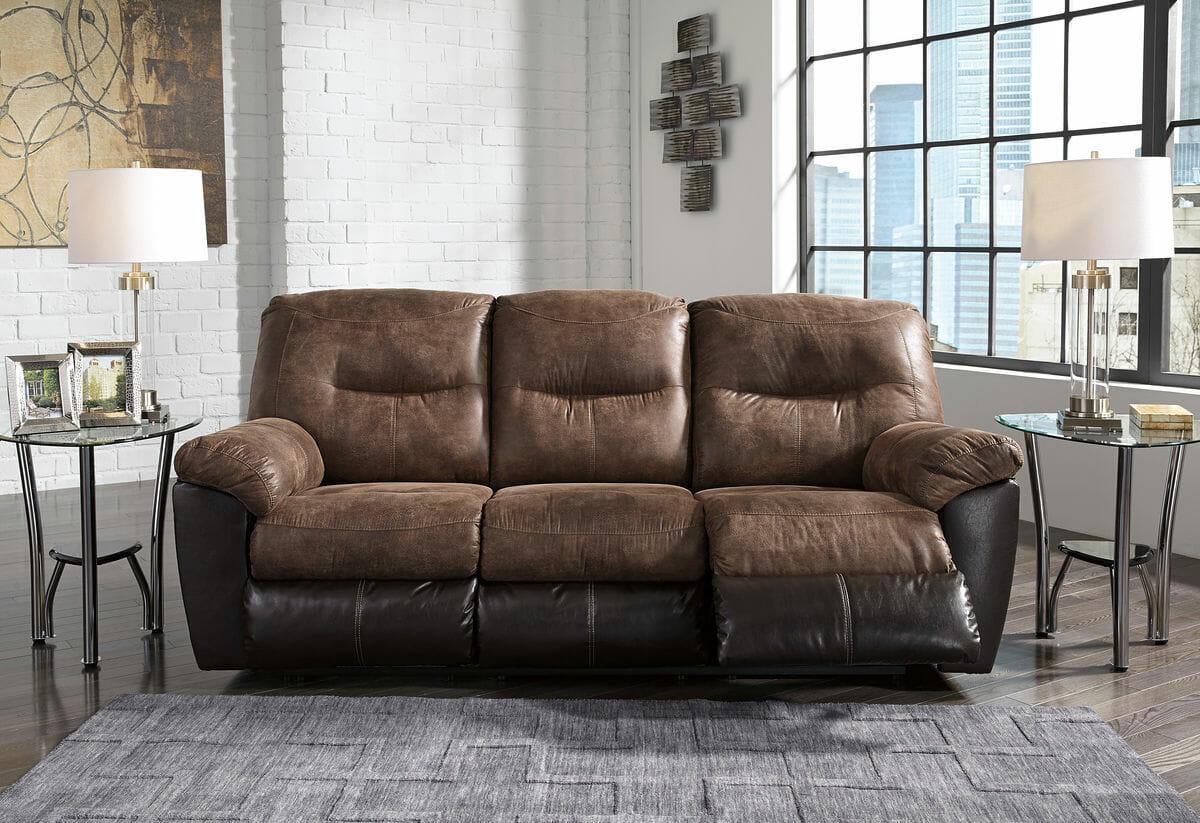 Follett Coffee Rec Sofa Dbl Rec Loveseat With Console