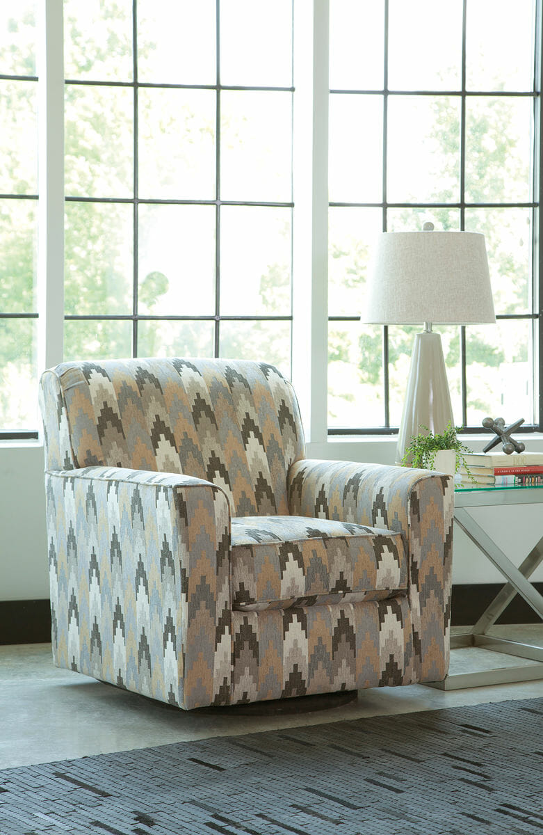 Pleasant Braxlin Charcoal Sofa Chaise Swivel Accent Chair Onthecornerstone Fun Painted Chair Ideas Images Onthecornerstoneorg