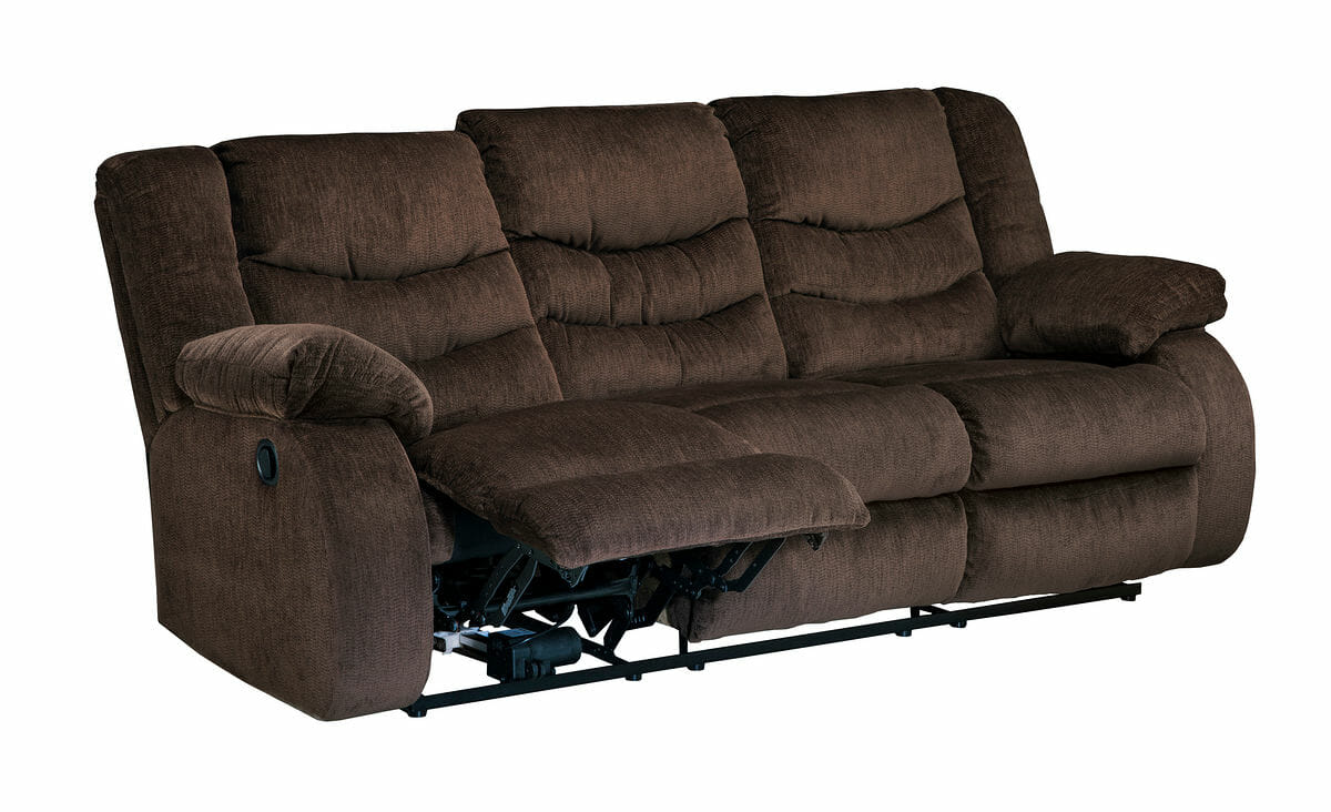 Garek Cocoa Rec Sofa Dbl Rec Loveseat With Console