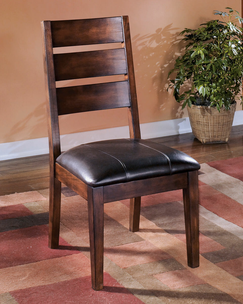 Larchmont Burnished Dark Brown Dining UPH Side Chair 2 CN