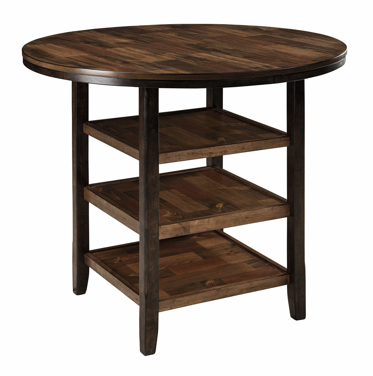 Moriann   Dark Brown   Round DRM Counter Table