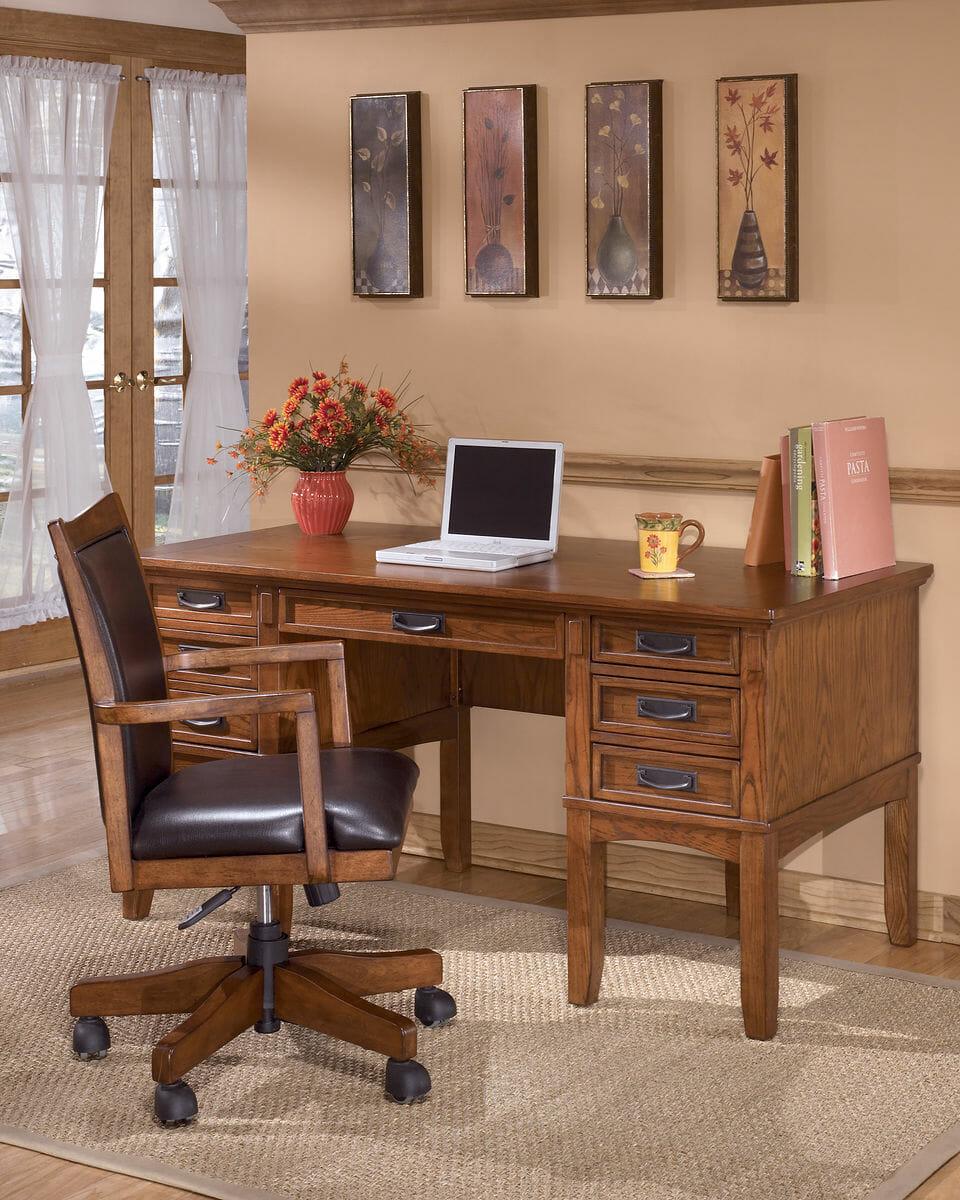 Miraculous Cross Island Medium Brown Home Office Storage Leg Desk Beutiful Home Inspiration Ommitmahrainfo