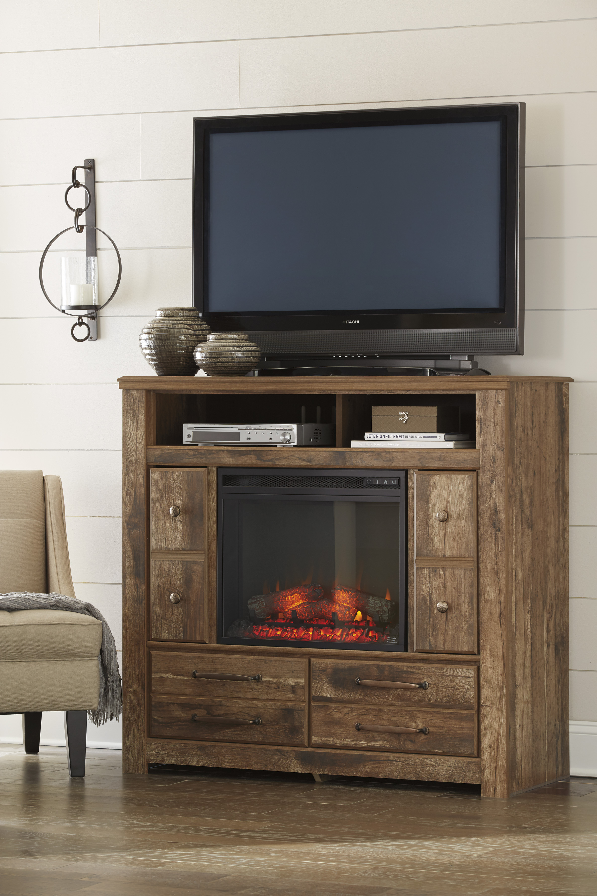 w product store mentor fireplace tv stand dealer furniture best oh option lg evanni ashley