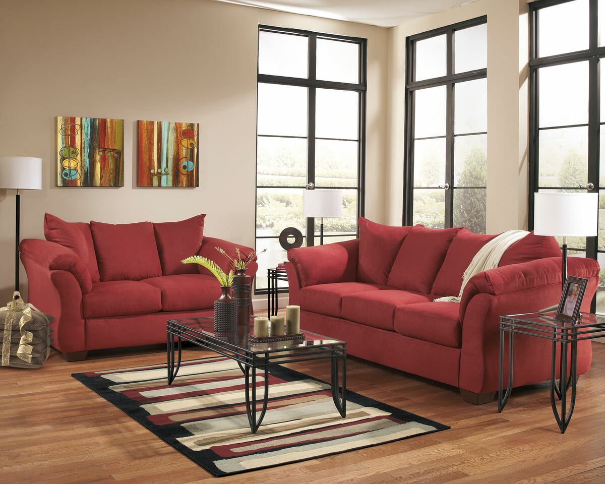 Darcy Salsa Sofa Loveseat Amp Exeter Table Set Nc