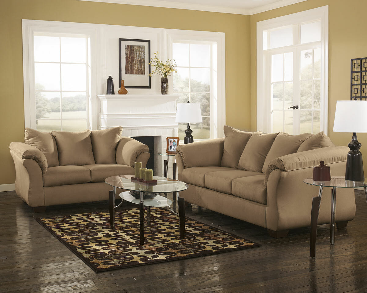 Prime Darcy Mocha Sofa Loveseat Avani Table Set Home Remodeling Inspirations Basidirectenergyitoicom