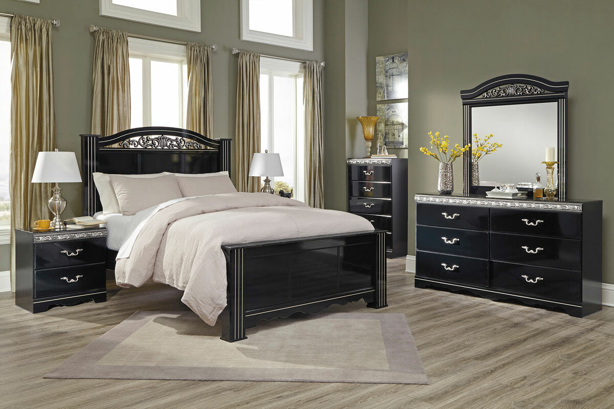 Constellations 6 Pc Dresser Mirror Chest Queen Poster Bed Nc Gallery Furniture