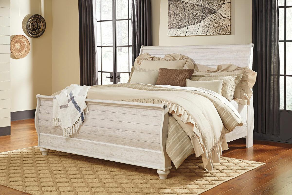 Willowton - Encalar - Rey cama trineo - NC Galería Muebles