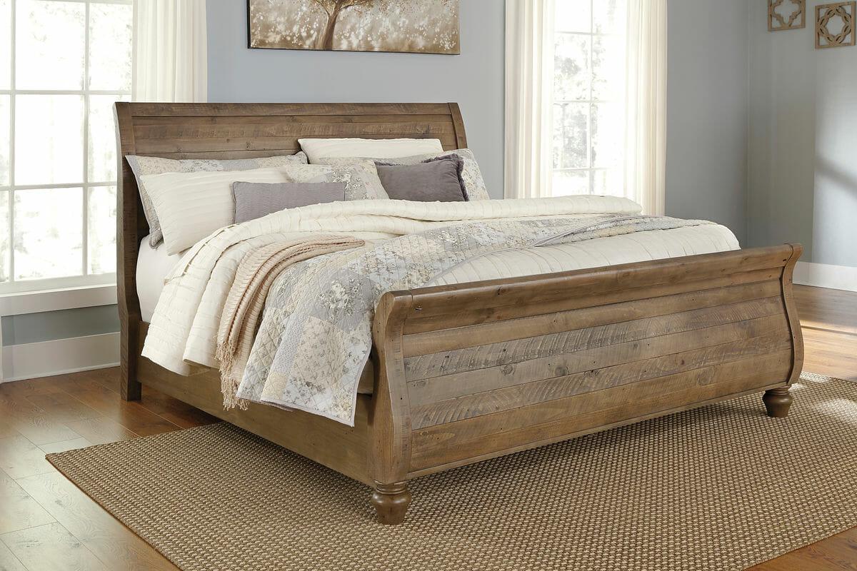Trishley - 7 Pc. - Dresser, Mirror, King Panel Bed & 2 Nightstands ...
