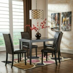 Kimonte U2013 5 Pc. U2013 RECT Dining Room Table U0026 4 UPH Side Chairs