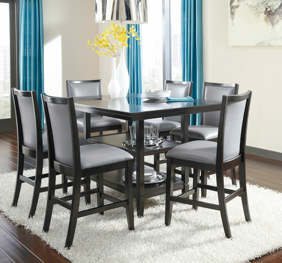 Ashley formal dining room sets 100 round wood dining room for Light wood formal dining room sets
