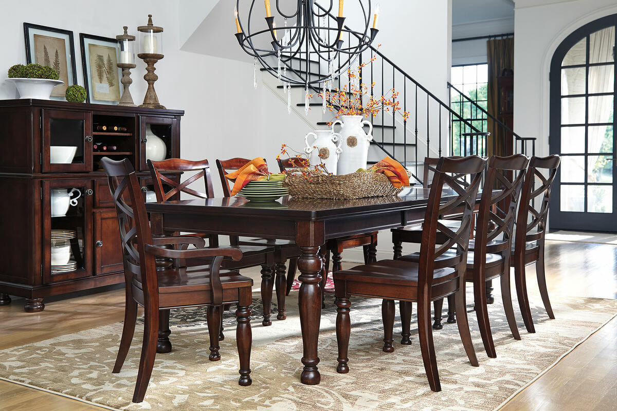 Porter 10 Pc Rect Dining Room Ext Table 6 Side