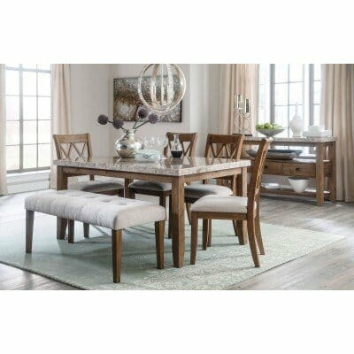 Ashley Narvilla Dining Table 4 Chairs Bench Server