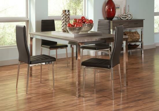 Superbe Coaster Juneau Dining Table U0026 4 Chairs