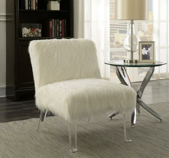 Marvelous Coaster Accent Chair In Faux Fur Alphanode Cool Chair Designs And Ideas Alphanodeonline