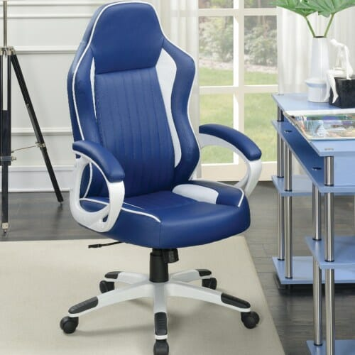 Magnificent Coaster Office Chair With Blue White Leatherette Uwap Interior Chair Design Uwaporg