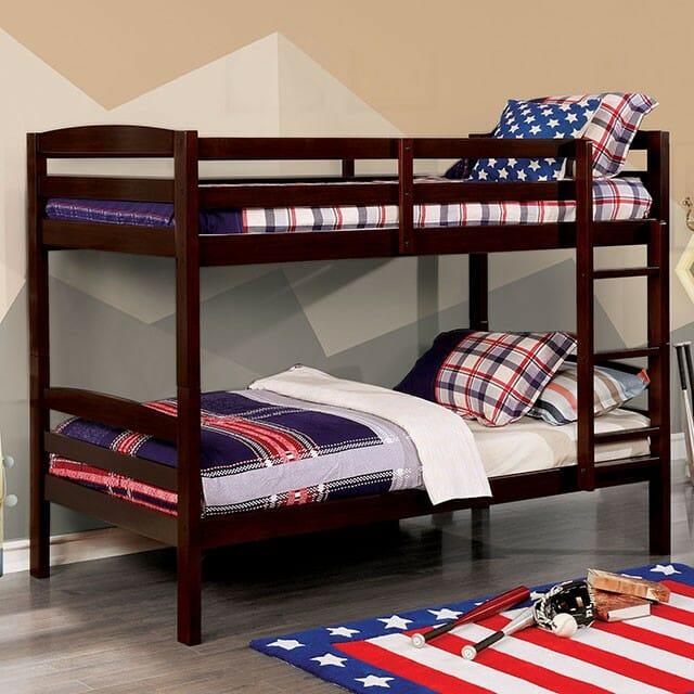 Furniture Of America Elaine Twin Twin Bunk Bed Nc Gallery Furniture