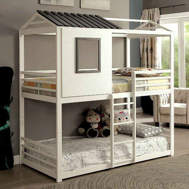 Furniture Of America Stockholm Twin Twin House Bunk Bed Nc Gallery