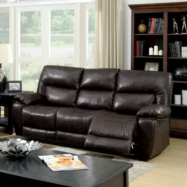 Strange Furniture Of America Stallion Leather Reclining Sofa Gmtry Best Dining Table And Chair Ideas Images Gmtryco